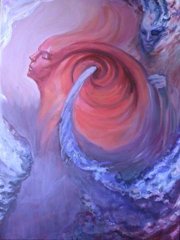 Jupiterwesenheiten Traum Acryl Gemälde Inspiration Malerei Sterne Astral